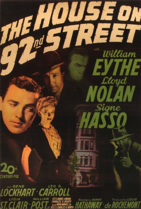 The House on 92nd Street Movie Poster