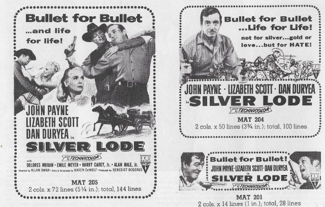 Silver Lode Movie Poster