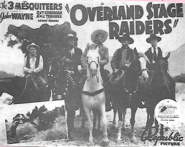 Overland Stage Raiders Movie Poster