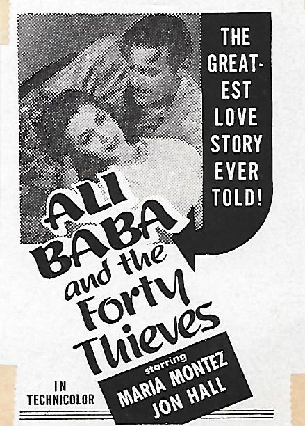 Ali Baba and the Forty Thieves Movie Poster