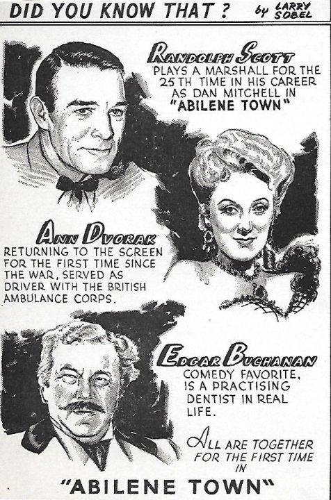 Abilene Town Movie Poster