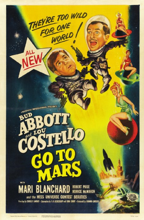 Abbott and Costello Go to Mars Movie Poster