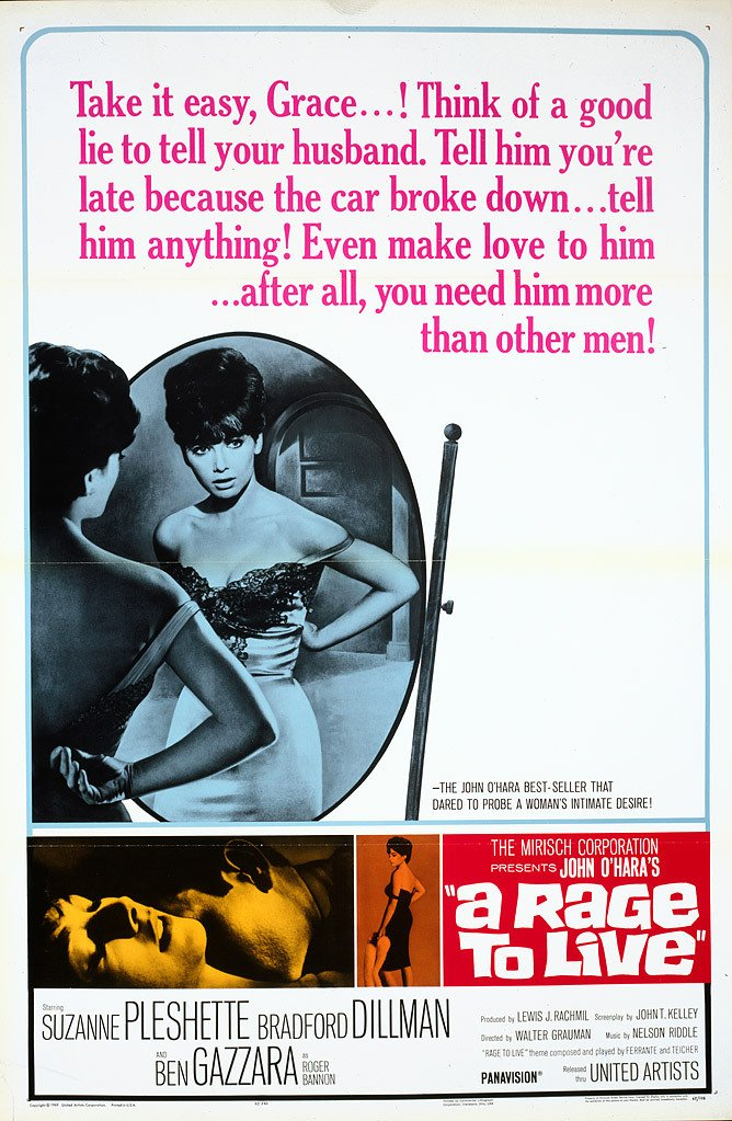 A Rage to Live Movie Poster