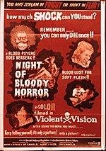 Night of Bloody Horror Movie Poster