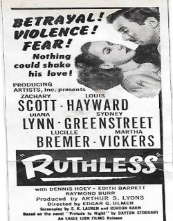 Ruthless (1948) - English