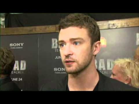 Justin Timberlake at the premiere of BAD TEACHER
