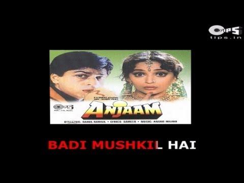 Badi Mushkil Hai Khoya Mera Dil Hai with Lyrics - Anjaam - Abhijeet - Sing Along
