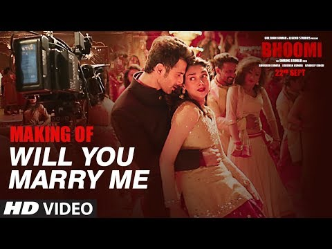 Making Of Will You Marry Me Video Song | Bhoomi | Aditi Rao Hydari, Sidhant | Sachin - Jigar