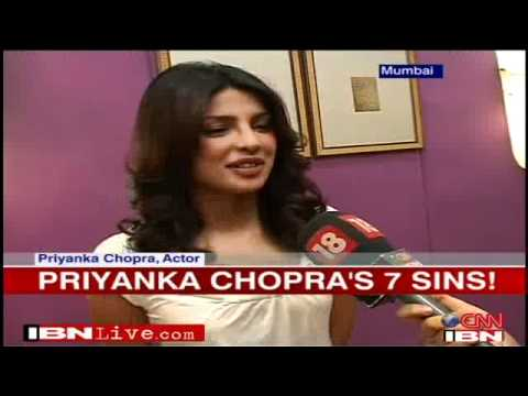 Priyanka Chopra talks about her 7 sins