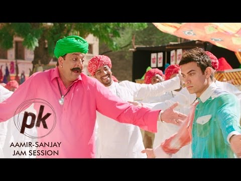 Aamir Khan & Sanjay Dutt Jam Session | PK | Releasing Dec 19, 2014