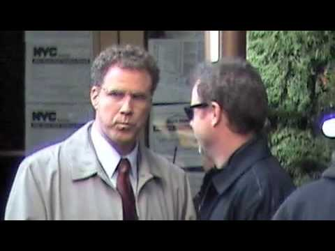 The Other Guys movie shoot - Will Ferrell and Mark Wahlberg