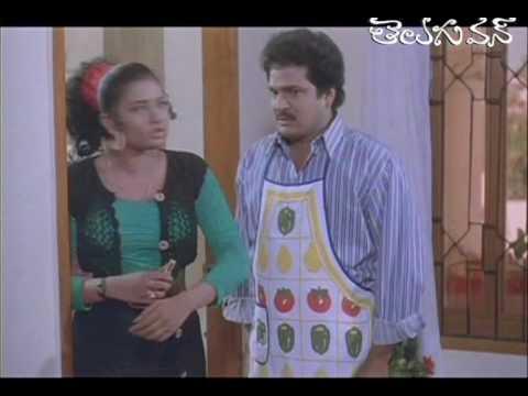Romantic Comedy Between Indraja and Rajendra Prasad