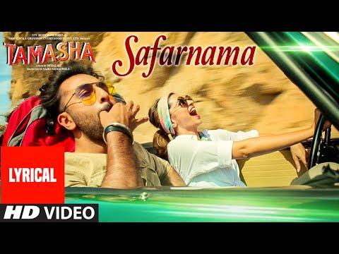 'SAFARNAMA' Tamasha Song (LYRICAL) | Ranbir Kapoor, Deepika Padukone | T-series
