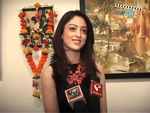 Isi Life Mein actor Sandeepa Dhar at Painting Exhibition