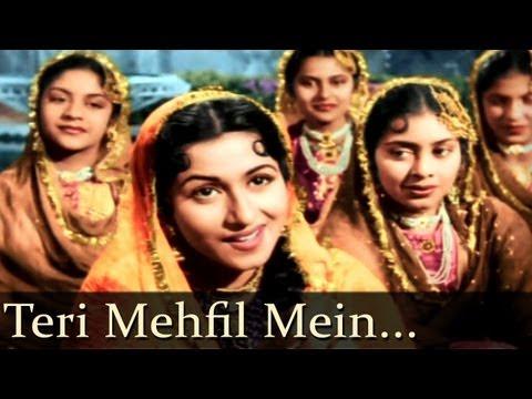 Teri Mehfil Mein Qismat - Mughal - E - Azam - Lata, Shamshad Begum