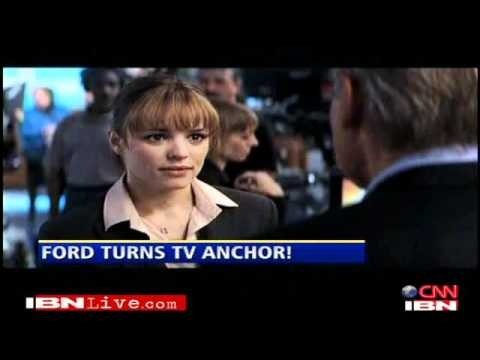 Harrison Ford turns TV anchor
