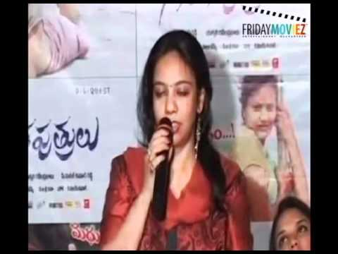 Actress Gayatri Rao at the audio launch of Telugu film 'Gangaputrulu'