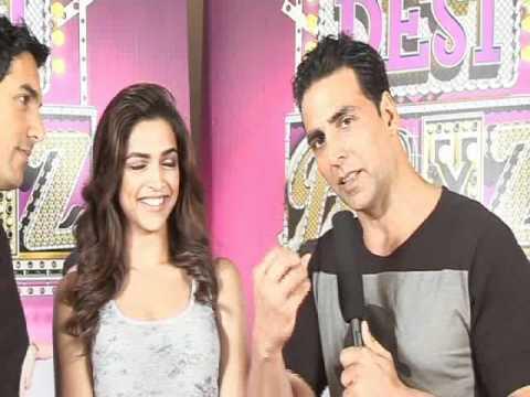 John, Deepika & Akshay on 'Desi Boyz'