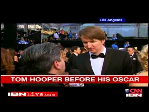 In conversation with Tom Hooper at the Oscars
